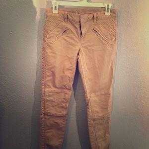 Gap khakis w/ zipper on back of ankle-skinny mini
